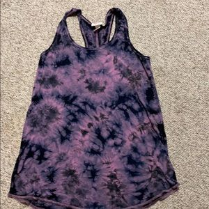 Tied-dye racer back tank top
